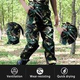 CYSINCOS Pocket Military Style Loose Camouflage Cargo Pants Men Tactical Airborne Jeans Trouser Male Casual SWAT Combat Trousers