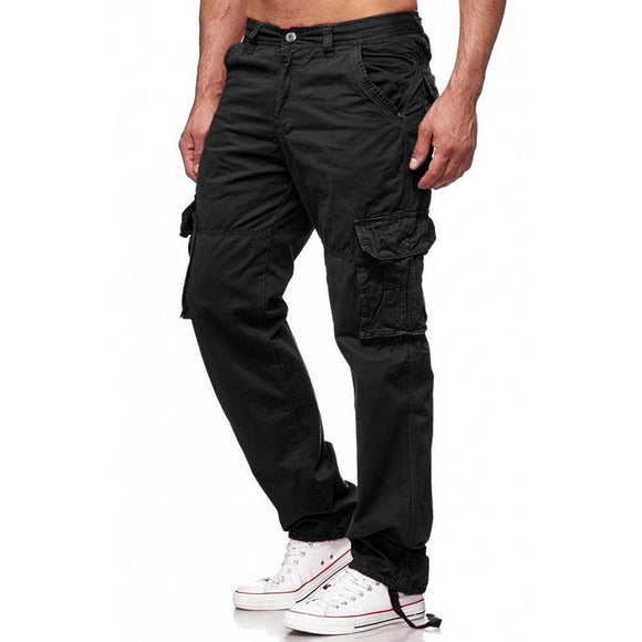 Men Cargo Pants Multi Pockets Military Tactical Outwear