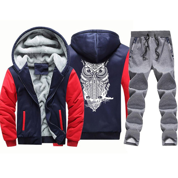 Hooded fleece and waterproof pants set