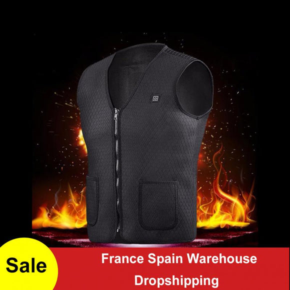 USB chargeable heated vest