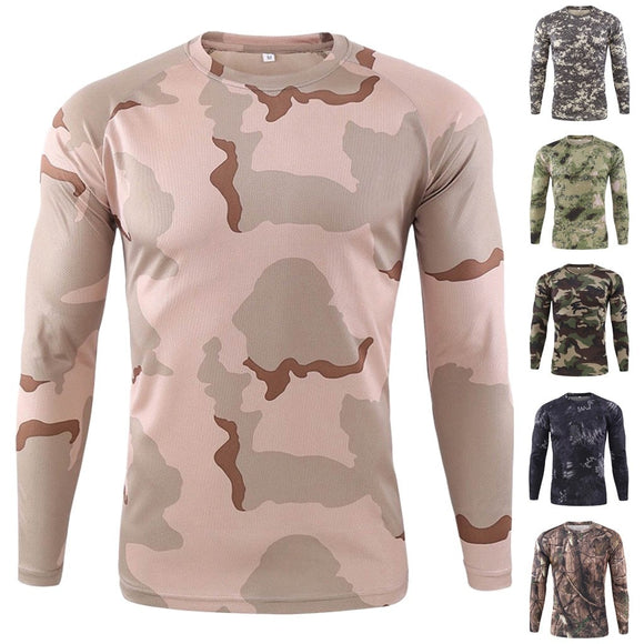 Men's Outdoor Quick-drying Camouflage Long Sleeve fishing shirt
