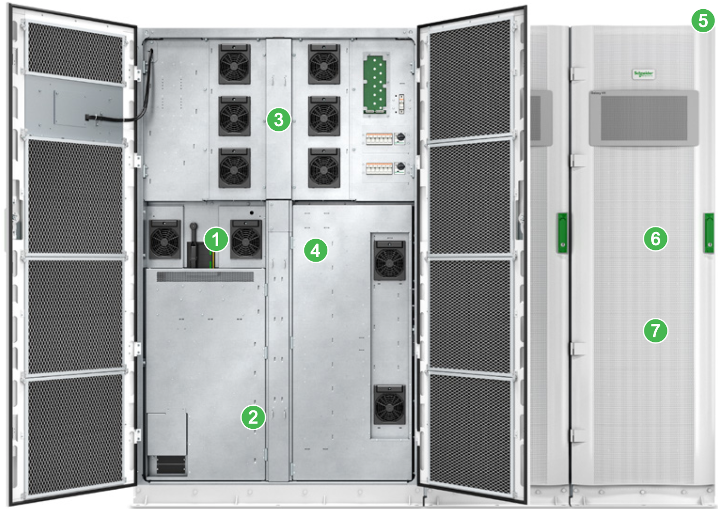 Inside the Galaxy VX redundant and scalable UPS