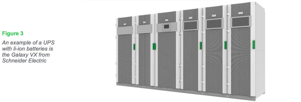 Figure 3: An example of a UPS with li-ion batteries is the Galaxy VX from Schneider Electric
