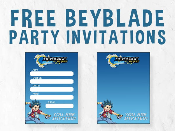 BeyBlade Party Invitations