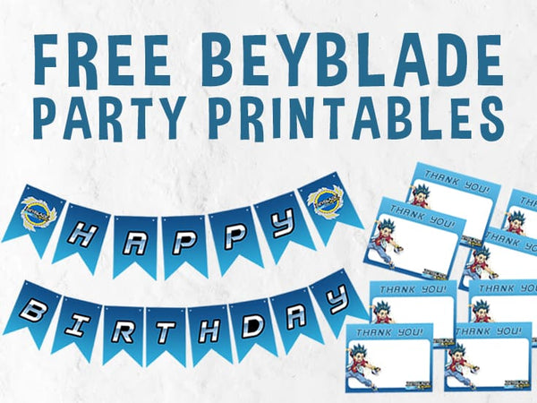 Beyblade Party Printables