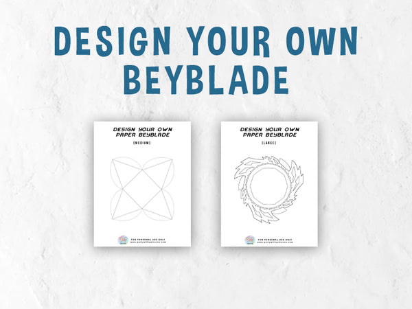 Design Your Own Beyblade Coloring Pages.