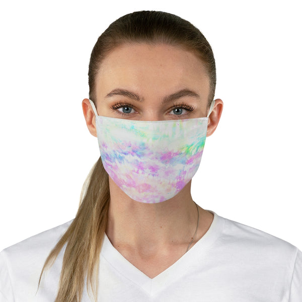 Pastel Tie Dye Fabric Face Mask