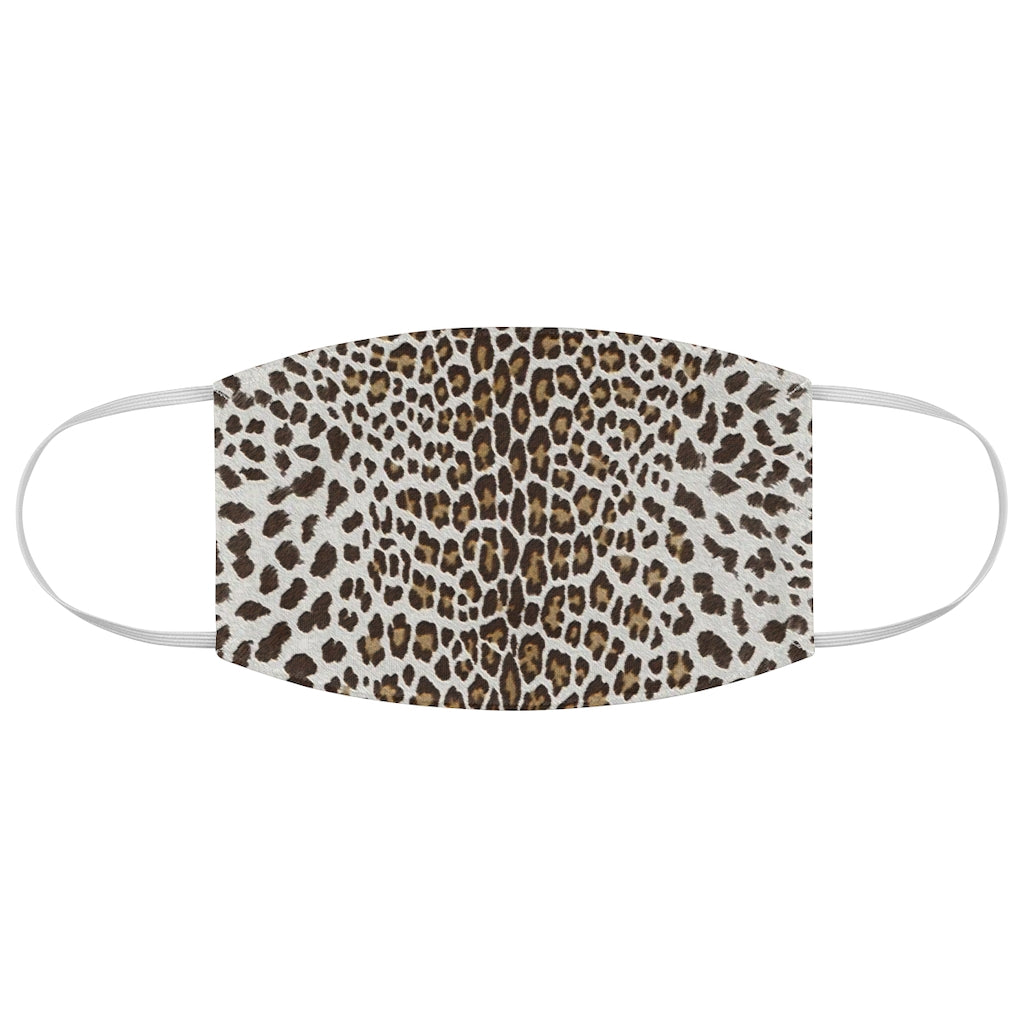 Brown Leopard Fabric Face Mask