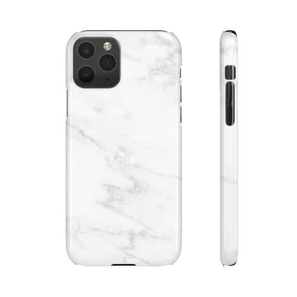 White & Grey Marble Snap Phone Case