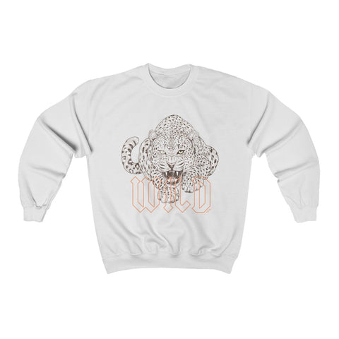 Wild Jaguar Distressed Unisex Crewneck Sweatshirt