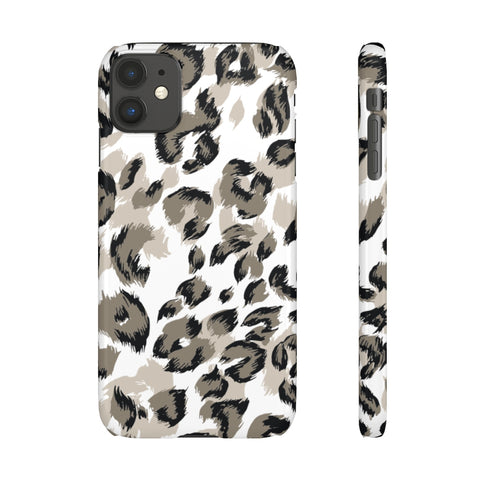 Taupe Cheetah Print Snap Phone Case
