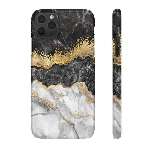 Black & Gold Marble Snap Phone Case