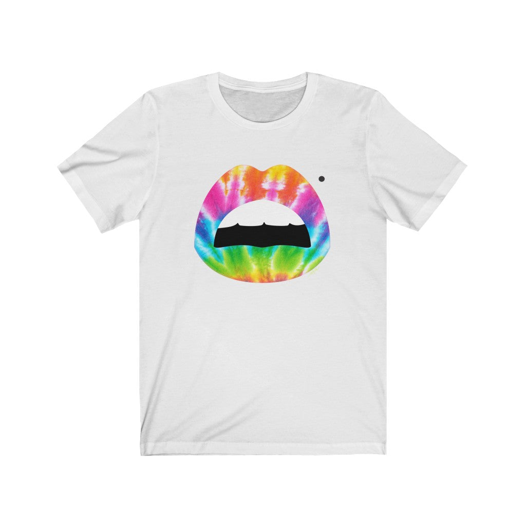 Tie Dye Mouth Beauty Mark Unisex Tee