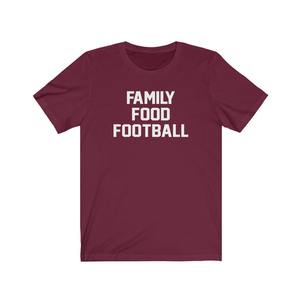 Family Food Football Unisex Short Sleeve Tee