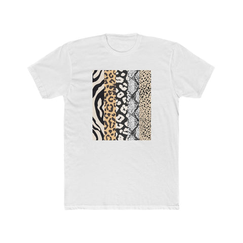 Animal Print Stripes Short Sleeve Tee
