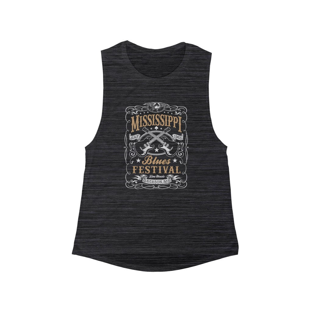 Mississippi Blues Festival Women's Flowy Scoop Muscle Tank