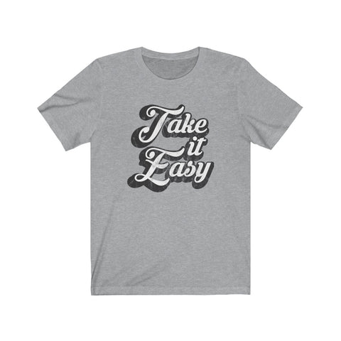 Take It Easy Distressed Unisex Jersey Tee