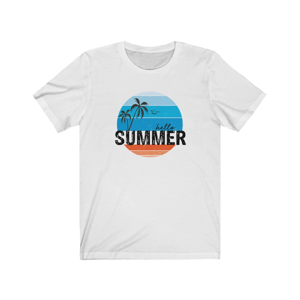 Hello Summer Distressed Unisex Tee