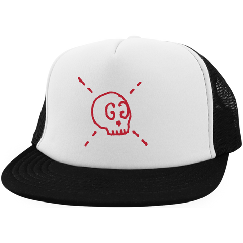 GG Ghost Skull Designer Inspired Trucker Hat