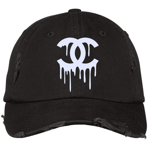 CC White Designer Inspired Distressed Hat