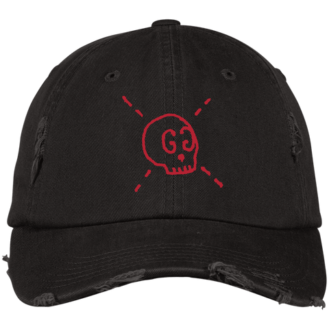 GG Ghost Skull Designer Inspired Distressed Hat