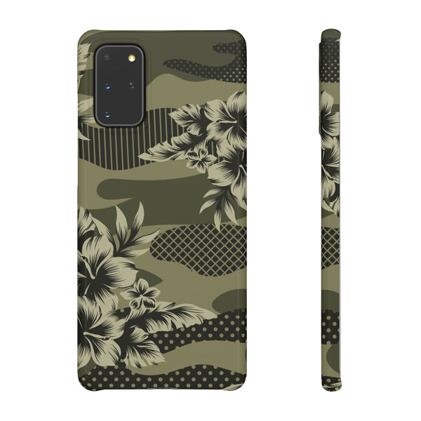 Camo Floral Print Snap Phone Case