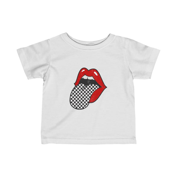 Infant - Red Lips Checkered Tongue Out Tee