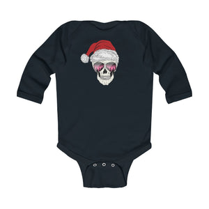 Baby - Santa Skull Infant Long Sleeve Bodysuit