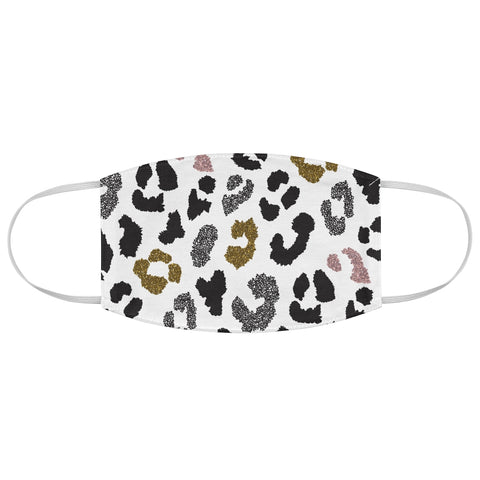 Multi Color Cheetah Print Fabric Face Mask