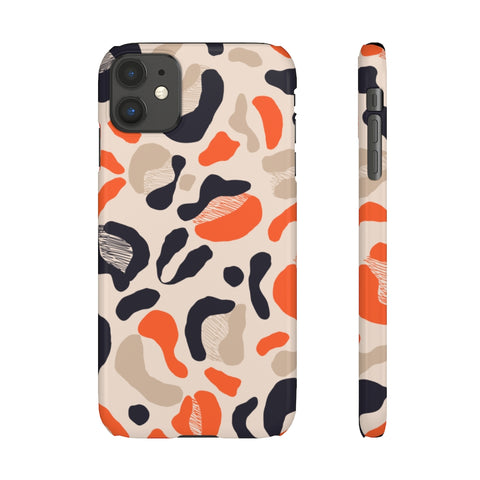 Orange Cheetah Snap Phone Case