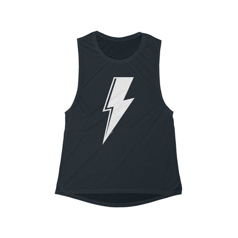 Distressed Bolt Women's Flowy Scoop Muscle Tank