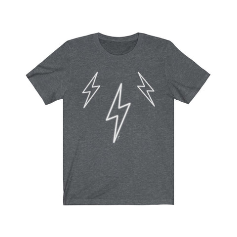 White Glow Lightning Bolts Unisex Tee