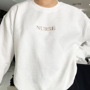 Nurse Embroidered Sweater