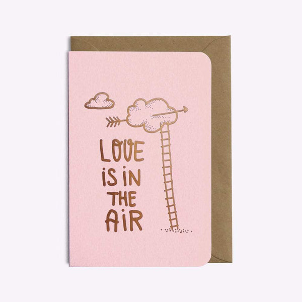 CARTE LOVE IS IN THE AIR carte LES EDITIONS DU PAON
