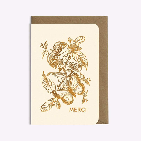 CARTE MERCI PAPILLON carte LES EDITIONS DU PAON