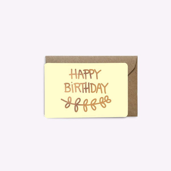 MINI CARTE HAPPY BIRTHDAY carte LES EDITIONS DU PAON