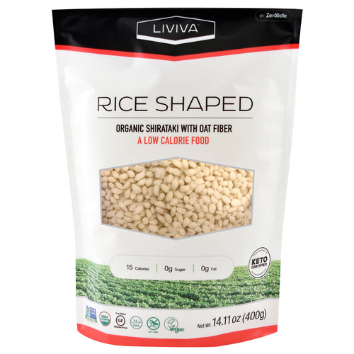 Organic Rice Shaped Shirataki with Oat Fiber