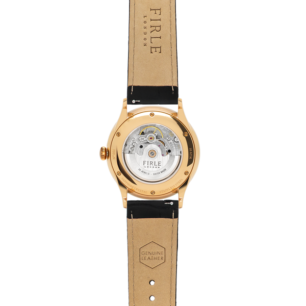 Sennen Automatic in Black & Gold - Firle Watches