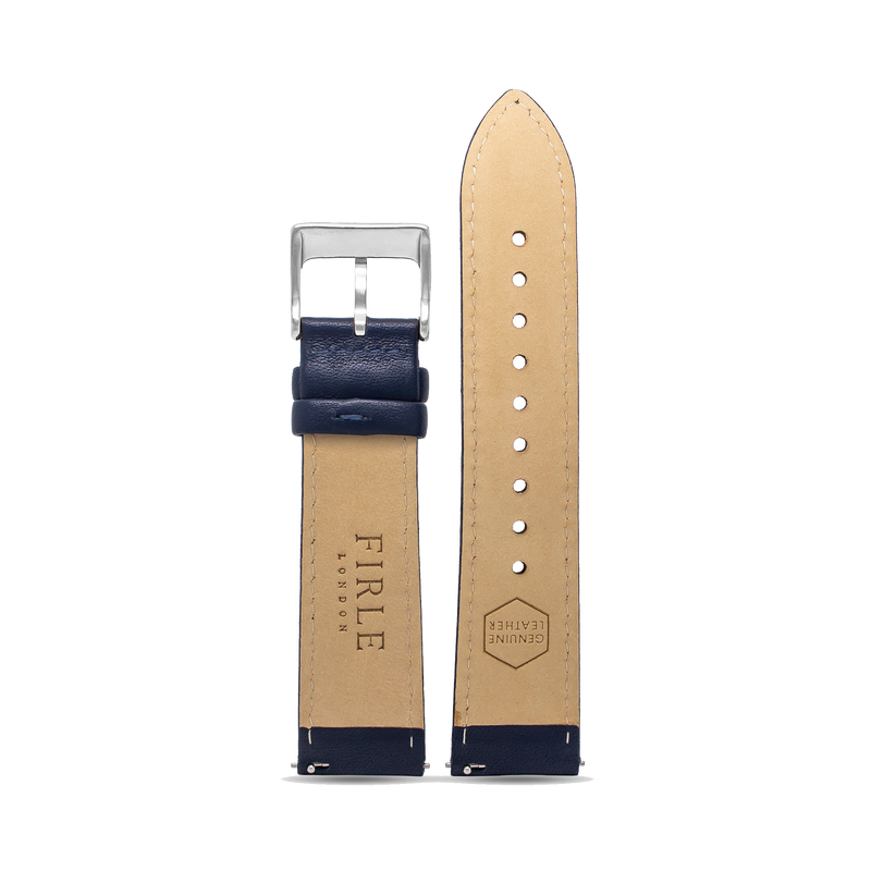 NAVY SMOOTH CALFSKIN - PIN BUCKLE
