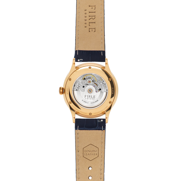 Sennen Automatic in Navy & Gold