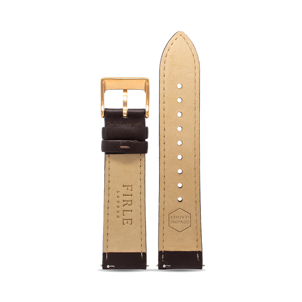 BROWN SMOOTH CALFSKIN - PIN BUCKLE