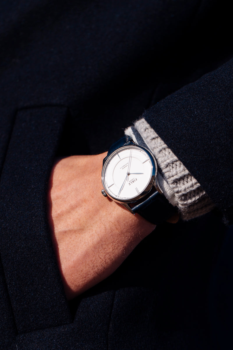Sennen Automatic in White & Silver