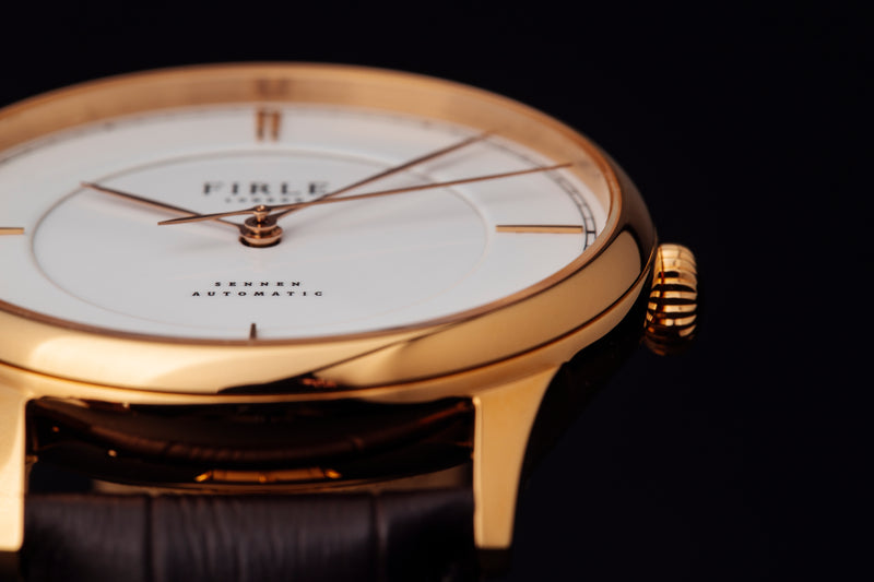 Sennen Automatic in White & Gold - Firle Watches