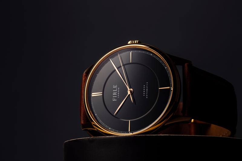 Sennen Automatic in Black & Gold