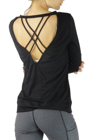 Allure Criss Cross Top/Black