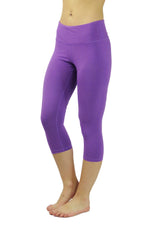 Bamboo Cropped Pant/Purple- FINAL SALE