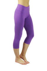 Bamboo Cropped Pant/Purple