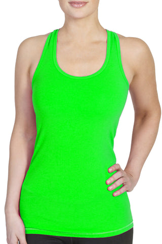 Bamboo Comfort Racerback Tank/Green - FINAL SALE
