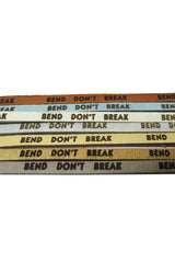 """Bend Don't Break"" Leather Wrap Bracelet"