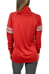 Ohio State Helmet Stripe Contrast Stitch Pullover/Red
